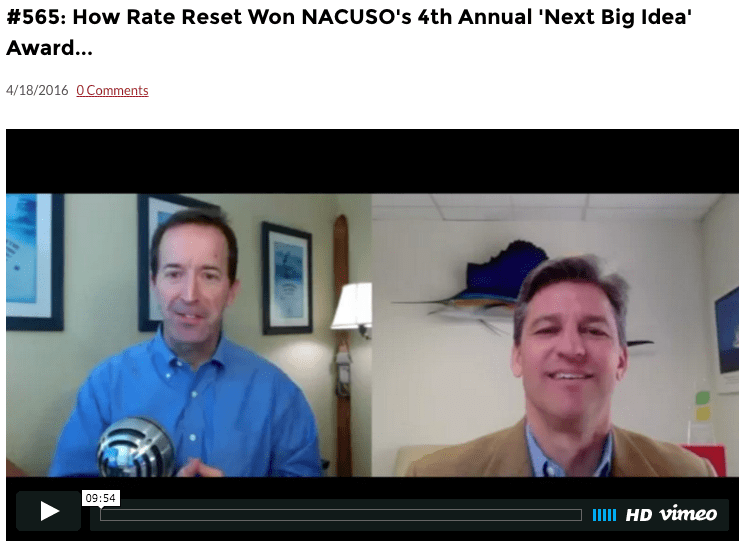 Rate Reset's Keith Kelly celebrates NACUSO win