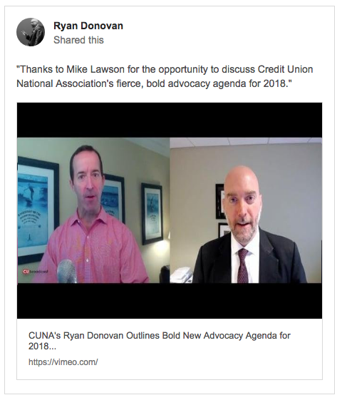 CUNA's Ryan Donovan on advocacy